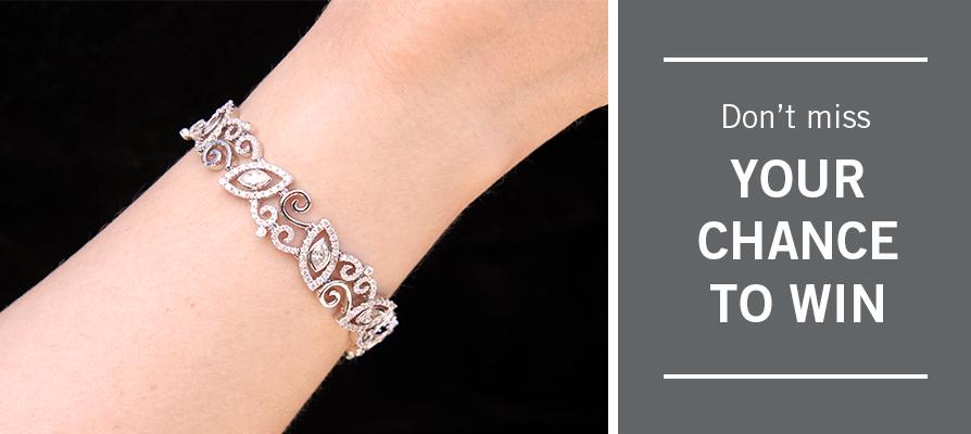 diamond bracelet raffle